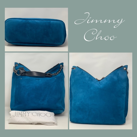 Jimmy Choo Handbags - Jimmy Choo Rave Suede Midnight Blue